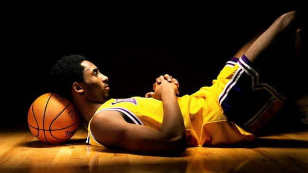 Young Kobe Lying Down
